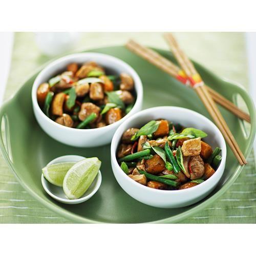 Chicken, pumpkin and basil stir-fry recipe. #Stirfry #asian #Chicken