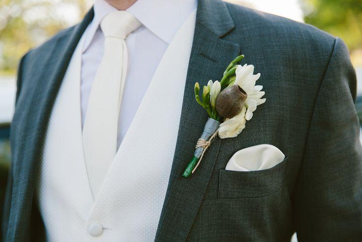 Wedding boutonniere. Image: Cavanagh Photography http://cavanaghphotography.com.au