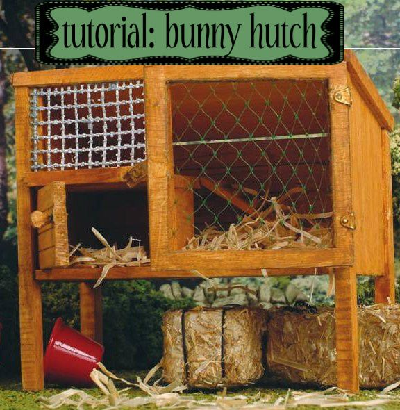 295 best dollhouse pets images on pinterest for How to make a rabbit hutch from scratch