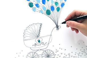 DIY - Free printable christening coloring sheet by frkhansen.dk