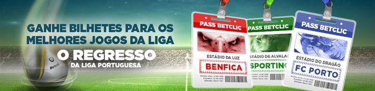 Assista ao vivo aos jogos do seu clube com o Pass Betclic #Benfica #Sporting #FCPorto #Superliga