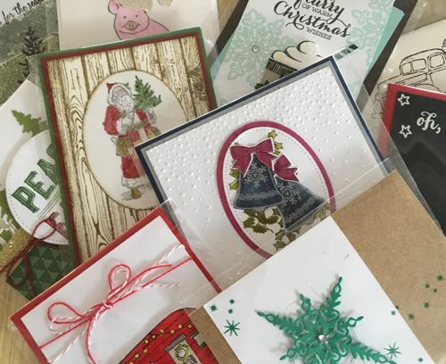 Join our belated Christmas in July creative class for a wonderful #crafternoon with friends. Use a variety of techniques to make 4 Christmas projects.