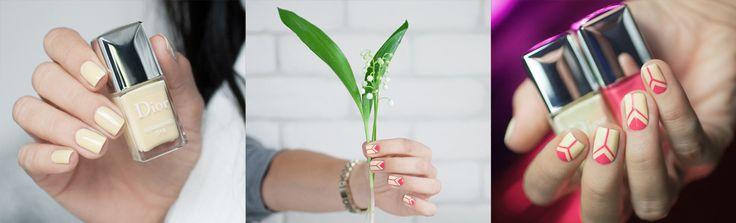 Nail art à carreaux sur Sunkissed de Dior | PSHIIIT