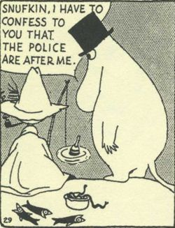 Moomin papa clearly had a good night at New Year