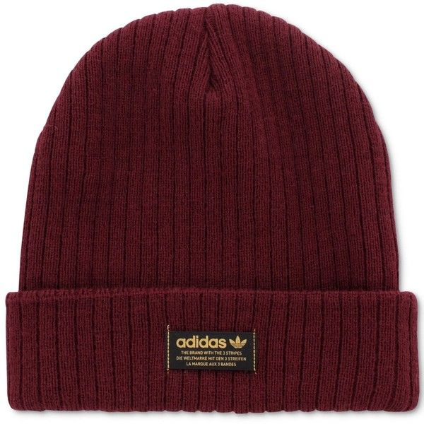 61ad4562fbd adidas Wide-Ribbed Beanie ( 15) ❤ liked on Polyvore featuring accessories