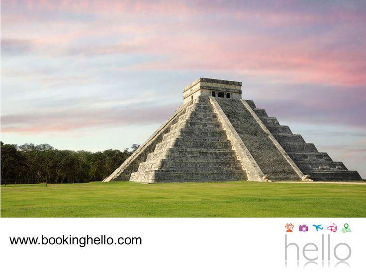 VIAJES PARA JUBILADOS. Si planeas adquirir tu pack all inclusive de Booking Hello al Caribe mexicano, aprovecha para visitar Chichen-Itzá y conocer la pirámide de Kukulkán. Este sitio arqueológico fue declarado Patrimonio Cultural de la Humanidad por la UNESCO y también es una de las 7 Maravillas del Mundo Moderno. Estamos seguros que te encantará conocer más sobre la historia de la cultura maya, durante tus vacaciones. #elcaribeparajubilados