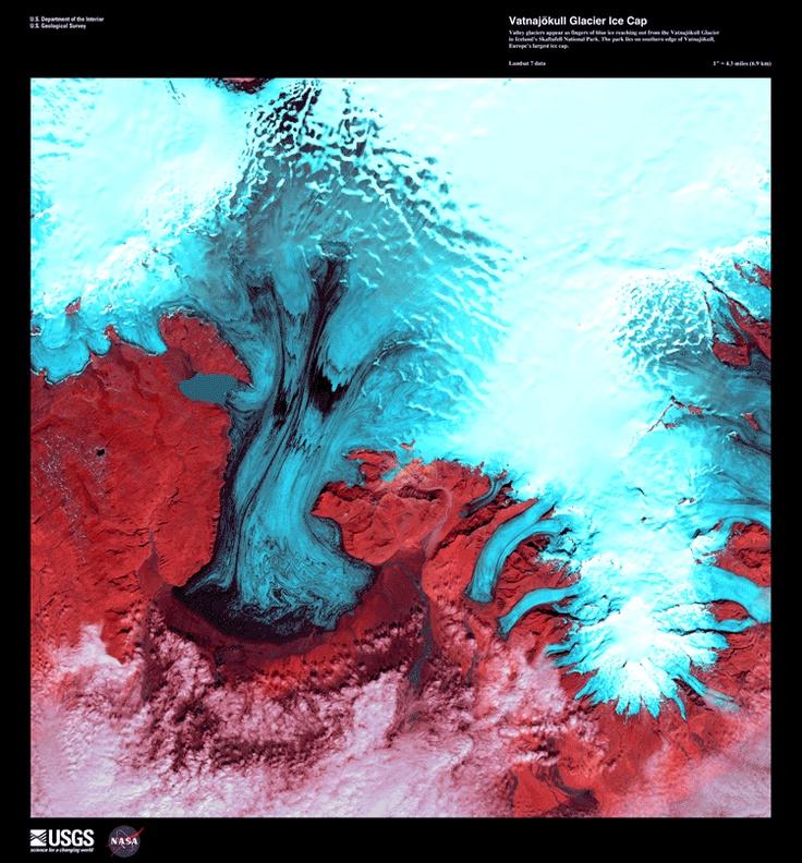 Vatnajokull Glacier Ice Cap