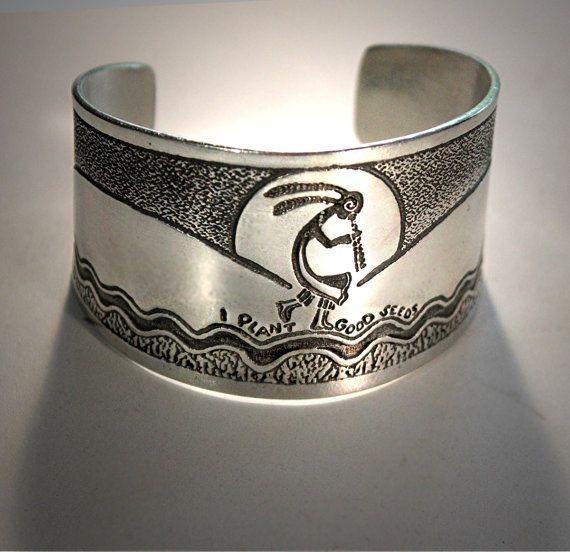 Kokopelli CuffBracelet by HorseLadyGifts on Etsy, $24.99