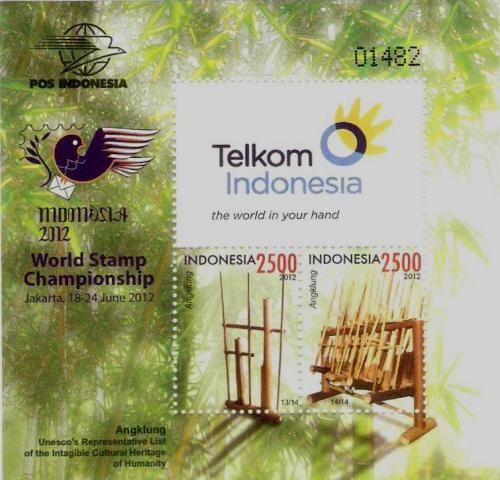 Souvenir Sheet Indonesia 2012 Angklung