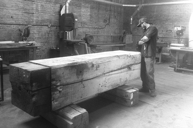 17 best images about wood workshops on pinterest man for Reclaimed timber beams