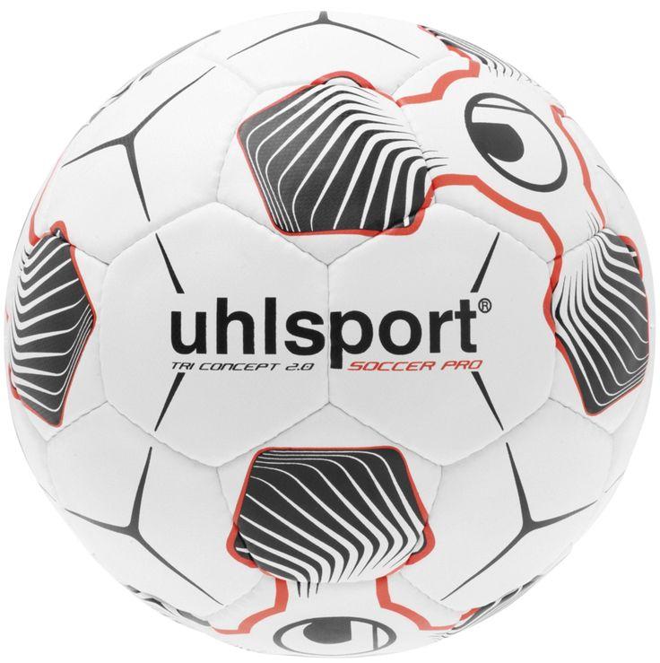 Uhlsport Tri Conzept 2.0 Soccer Pro Trainings-Fussball in weiß/schwarz/rot. Ab sofort bei uns online und im Store in Hainburg erhältlich.