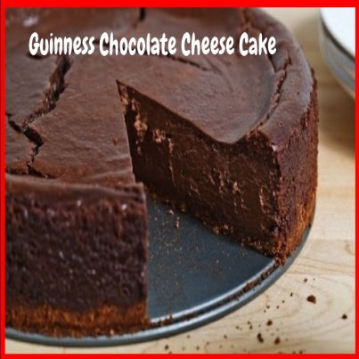 Guinness Chocolate Cheese Cake.  Click Picture & Get Your Copy of Mouthwatering St Patrick's Day Recipes http://marleneroberson.com/st-patricks-day-recipes/