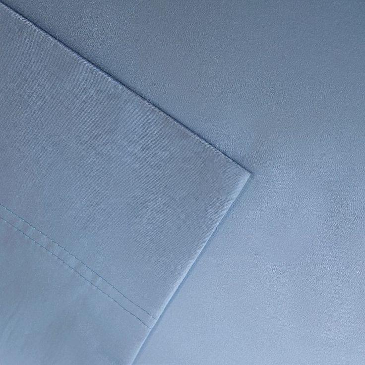 Sleep Philosophy 320 Thread Count Cotton Tencel Sheet Set, Blue