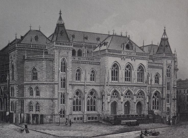 Bremen / Neue Börse. Stahlstich 1864 / Von Weger (Leipzig), nach einer Zeichnung von Kupfer