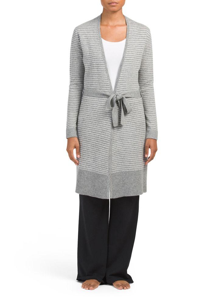 Striped Cashmere Robe