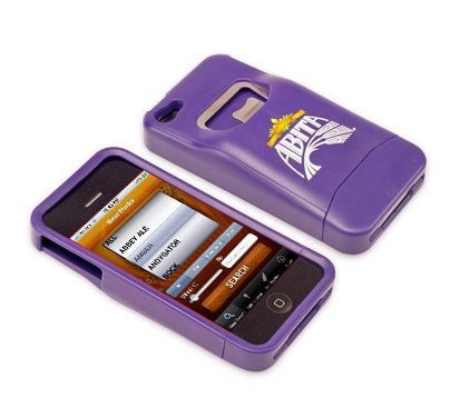 Local beer manufacturer Abita iphone cover with bottle opener