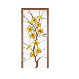 Drzwi szklane witrażowe GIPSY KINGS BAWEŁNA 1