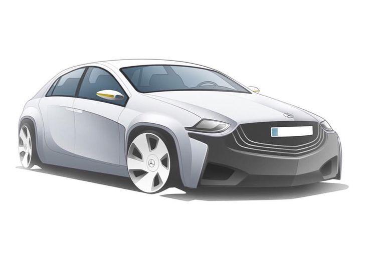 Prototype Style for Benz C Class electric powed. 2013 #mercedesbenz #cclass #cardesign #conceptdesign #design #electriccar #자동차디자인 #벤츠 #c클래스 #메르세데스벤츠 #전기자동차 #렌더링 #카스타그램
