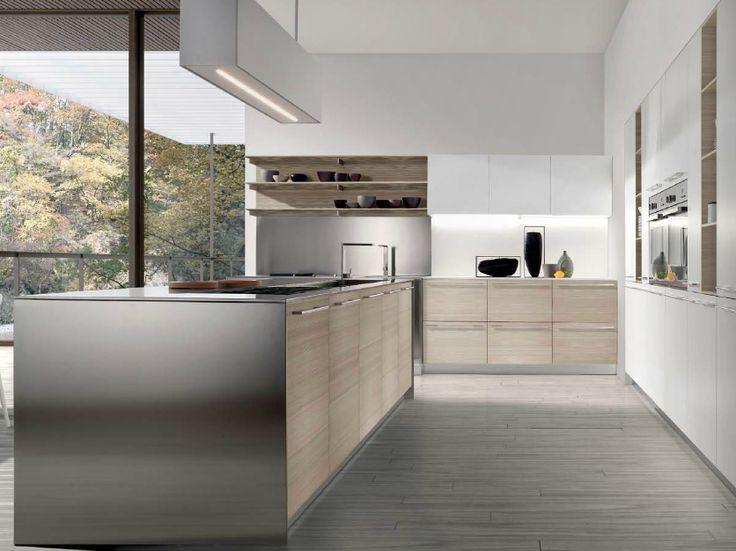 Cucina con finiture essenza e acciaio. I Tesori Coloniali. #itesoricoloniali #reggioemilia #cucine #bva #design #arredamenti #casa #loft #homestaging #legno #acciaio #industrial