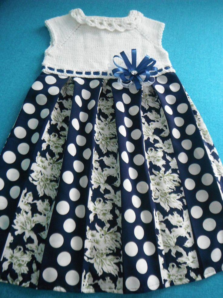 комбинированное платье вязание + ткань нарядное