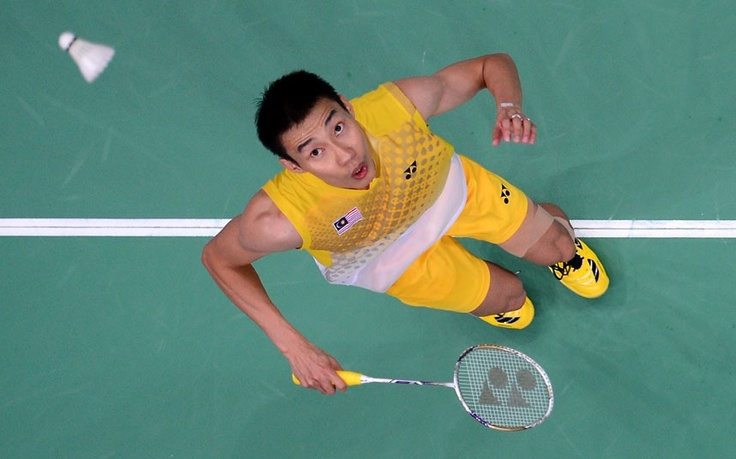 Malaysia's Lee Chong Wei during the men's singles gold medal badminton match