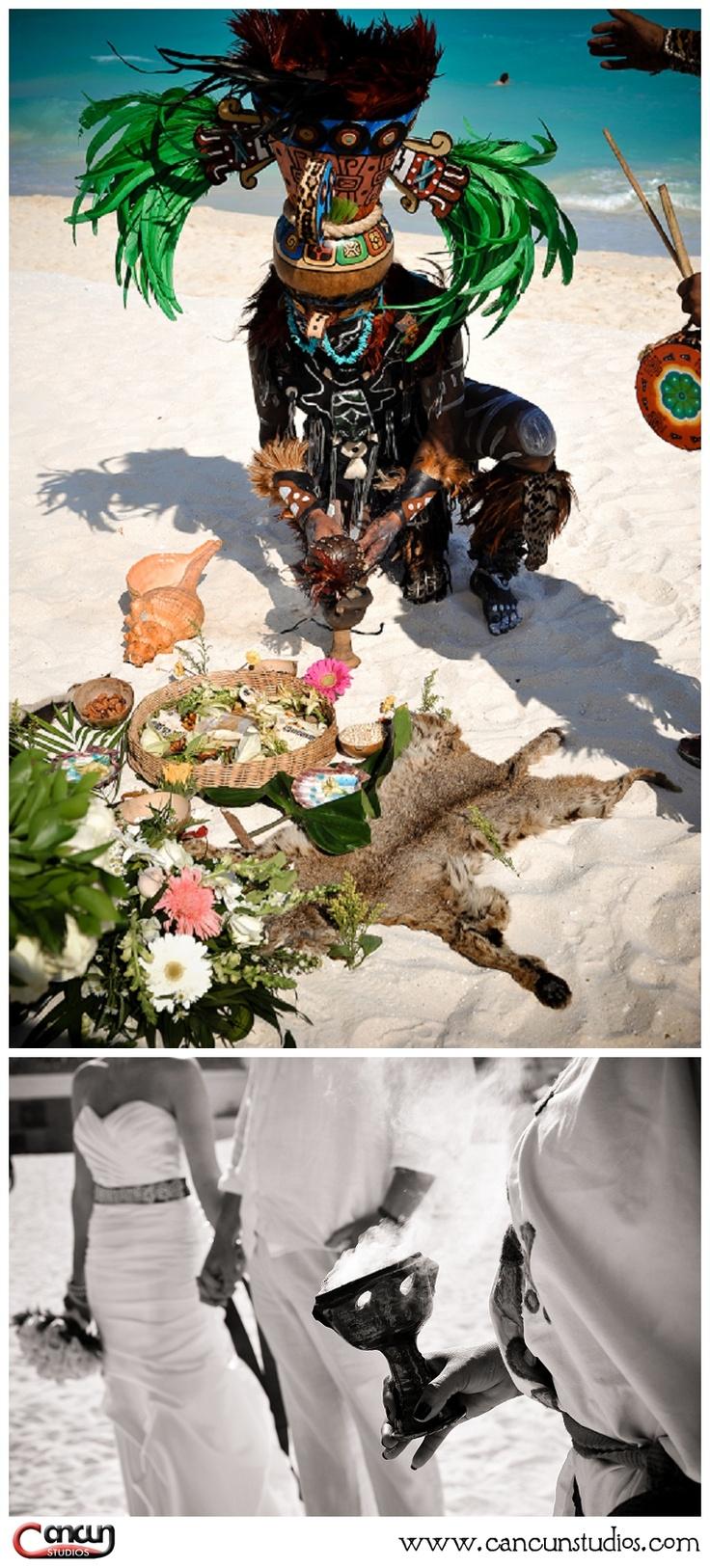 Mayan Wedding Ceremony in Cancun  www.cancunstudios.com