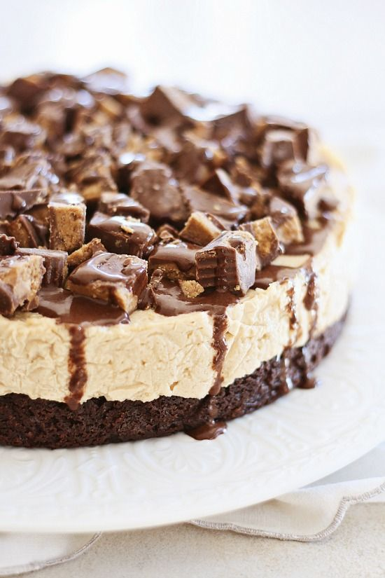 Peanut Butter Cheesecake Brownies with Fudge Sauce. The. BEST. Dessert. EVER. http://rasamalaysia.com
