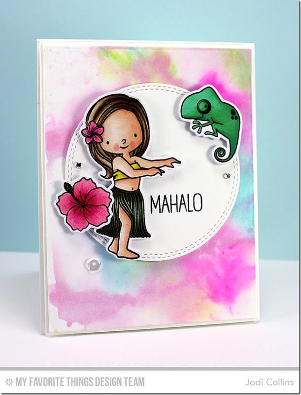 Card Making Paradise Part - 31: Polynesian Paradise Stamp Set And Die-namics, Double Stitched Circle STAX  Die-namics - Jodi Collins