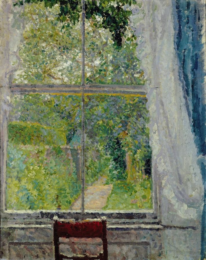 Frederick Gore Spencer, View from a Window, oil