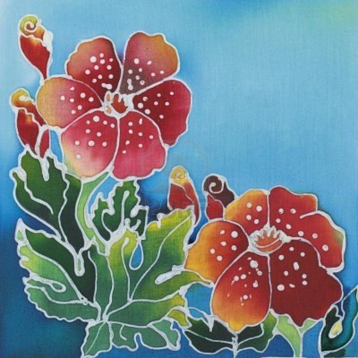 Batik Art, Flower Art, Batik Pattern
