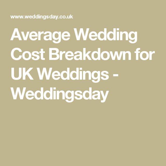 17 Best Ideas About Wedding Cost Breakdown On Pinterest