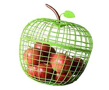 Cestino portafrutta in metallo Apple verde - d 30 cm