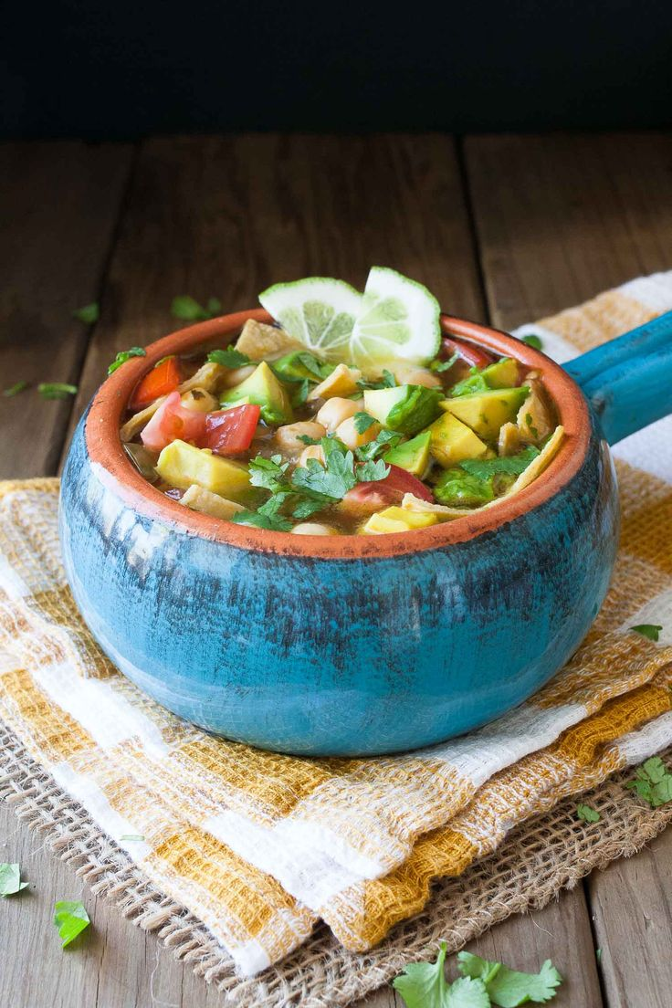 Vegan Gluten Free Mexican Tequila Lime Chickpea Soup