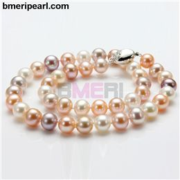 barrera pearl necklace 6 strand. This indicates the confidence of a company in the product that they sell. The customer's satisfaction should be the company's primary objective. If the company does not have a complete satisfaction warranty, purchasing from them is probably a mistake.	visit: www.bmeripearl.com