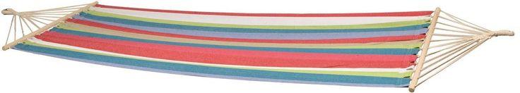 Bo-Garden Santa Barbara 2-persoons hangmat  Katoenen tweepersoons hangmat De Santa Barbara is een tweepersoons hangmat die is gemaakt van katoen. De hangmat heeft een ligoppervlak van 230140 centimeter en is hiermee groot genoeg om met twee personen tegelijkertijd in te gaan liggen. Het maximale draagvermogen van de Santa Barbara is 200 kilogram. De hangmat is uitgevoerd met een spreidstok. Het voordeel van een hangmat met spreidstok is dat je gemakkelijk in en uit de hangmat kunt stappen…
