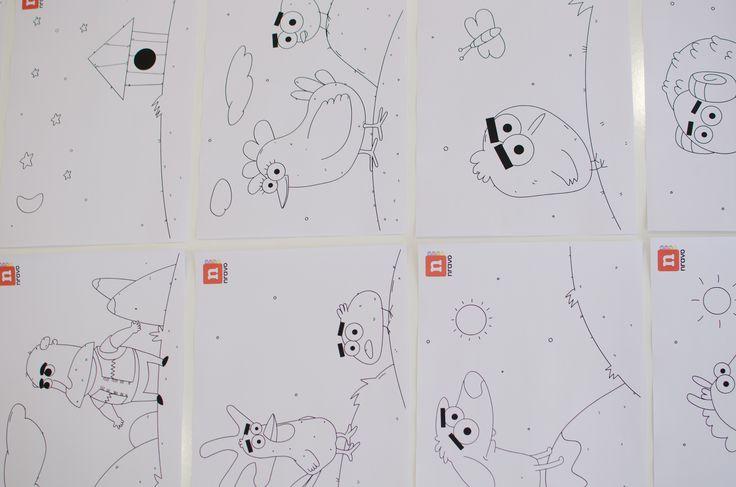 Нравки-розмальовки.  Олівцями чи фломастерами можна надати кольору усім героям гри.