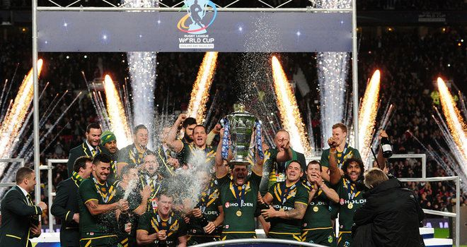 Australia celebrate their Rugby League World Cup final victory. Sky Sports http://www1.skysports.com/rugby-league/news/12196/9242180/rugby-league-world-cup-generates-substantial-profits