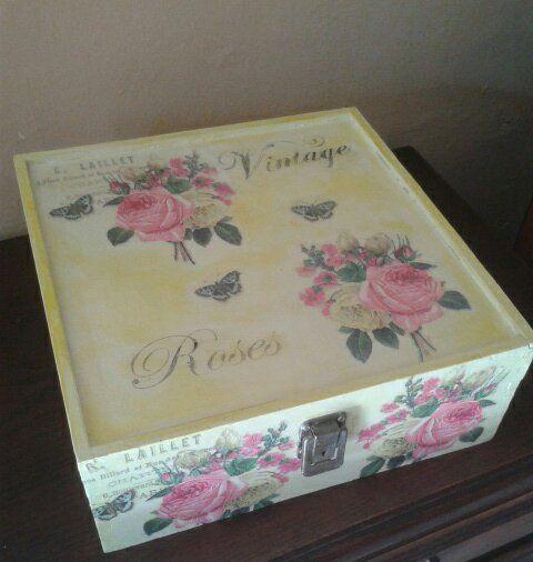 49 best images about vintage on pinterest madeira - Como decorar cajas de madera estilo vintage ...