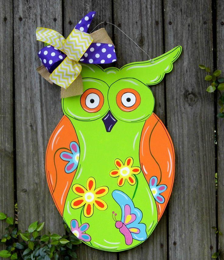 Owl Door Hanger, Classroom Door Hanger, Summer Door Hanger, Spring Door Hanger by HolidaysAreSpecial on Etsy https://www.etsy.com/listing/228060677/owl-door-hanger-classroom-door-hanger