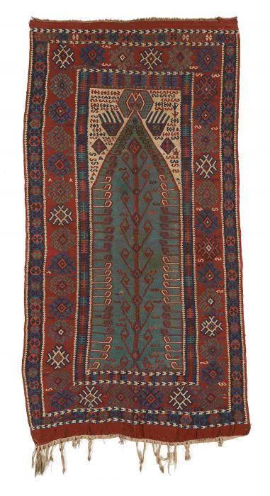 VAN-HAM Kunstauktionen Kilim, Erzurum, East Anatolia.  End 19th C. 236 x 120cm.