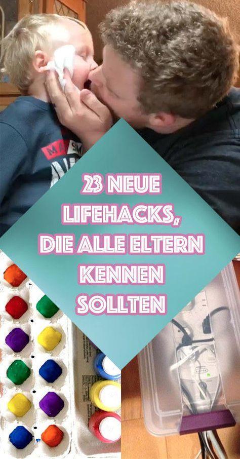 23 neue geniale Lifehacks, die alle Eltern kennen sollten - da sind tatsächlich einige gute Ideen dabei :)