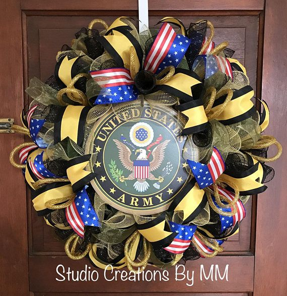 Army Wreath, US Army, Military Wreath, United States Army, Military, E Pluribus Unum, US Armed Forces