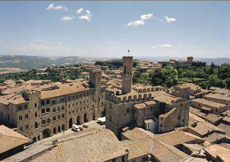 view from the bell tower of Volterra - Tuscany #volterra #volterratur