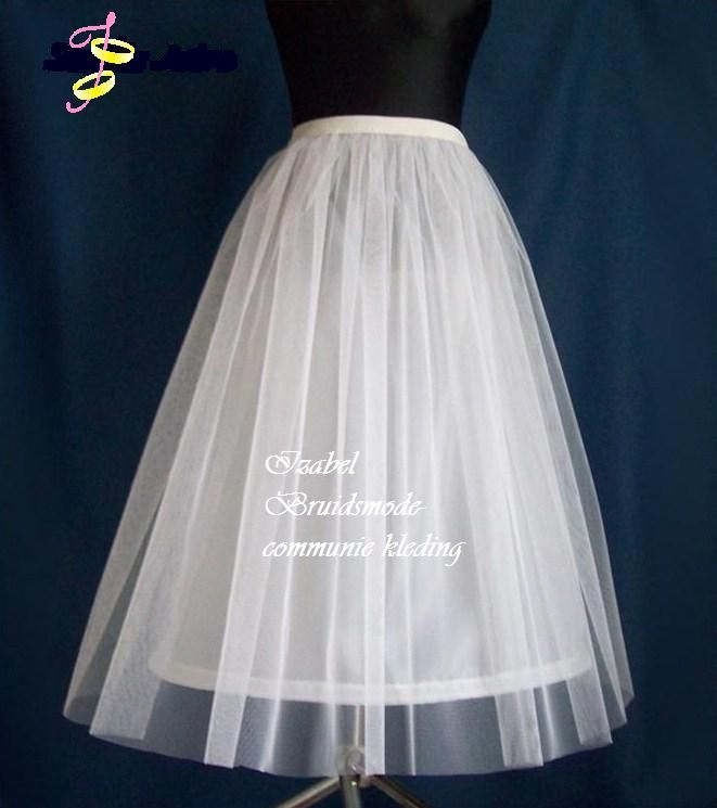Petticoat/hoepelrok communie jurk
