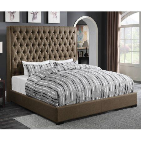 Coaster Company Sollee Upholstered California King Headboard, Brown Fabric