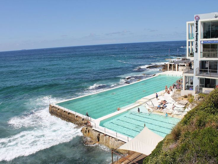 See the waves of the Tasman Sea crash against you at the Olympic-Sized Bondi Icebergs in Australia, a popular public pool for wintertime swimming.