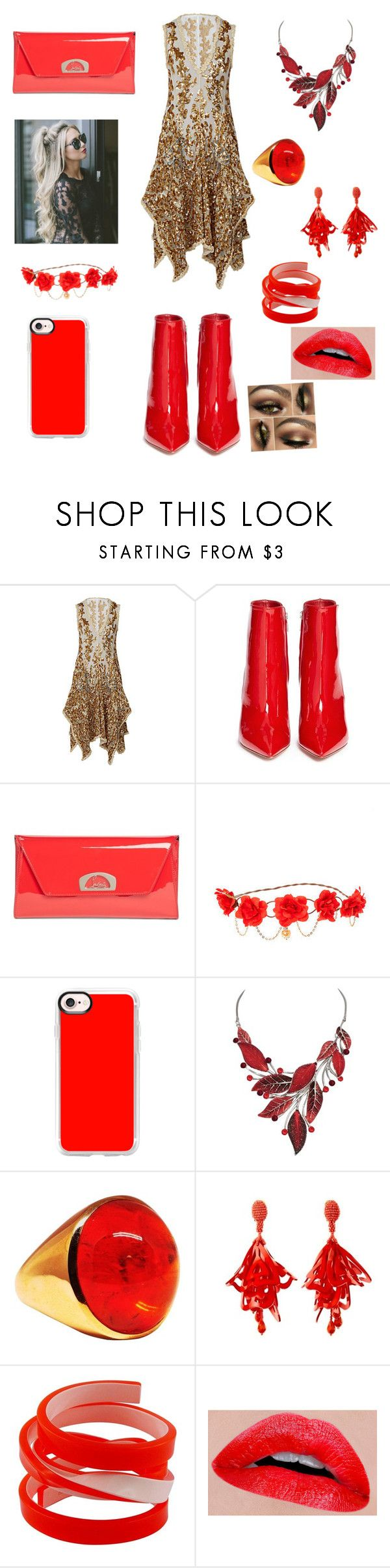 """""""Award show number 2 billboards with Ashton"""" by madison6662 ❤ liked on Polyvore featuring Gianvito Rossi, Christian Louboutin, Casetify, Oscar de la Renta and Christian Lacroix"""