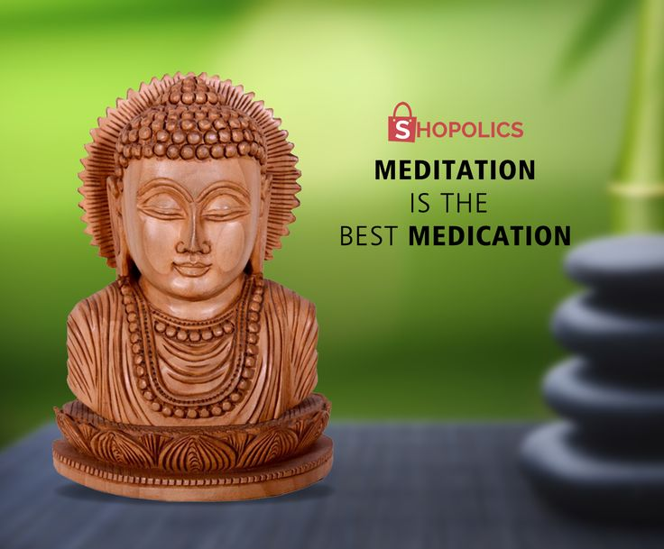 This #beautiful #meditation #head of #Buddha at #Shopolics is made up of #teakwood and one can think of reaching the enlightened state by viewing this charming #statue . Shop now:  https://goo.gl/f16Lh3