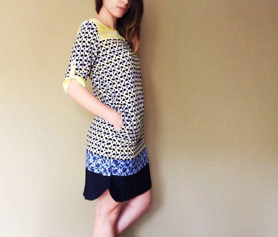 Modern graphic pattern dress by pookadesign on Etsy #summer #dress #etsy