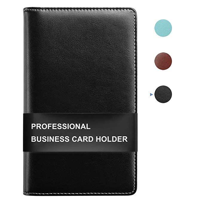 Sooez Leather Business Card Book Holder Professional Business Cards Book Organizer Pu Name Card Credit Car Leather Business Cards Card Book Business Card Book